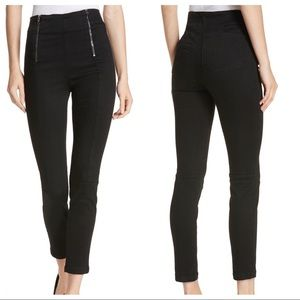 Frame Double zip waist skinny jeans